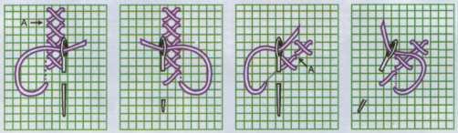 Способы вышивания крестом