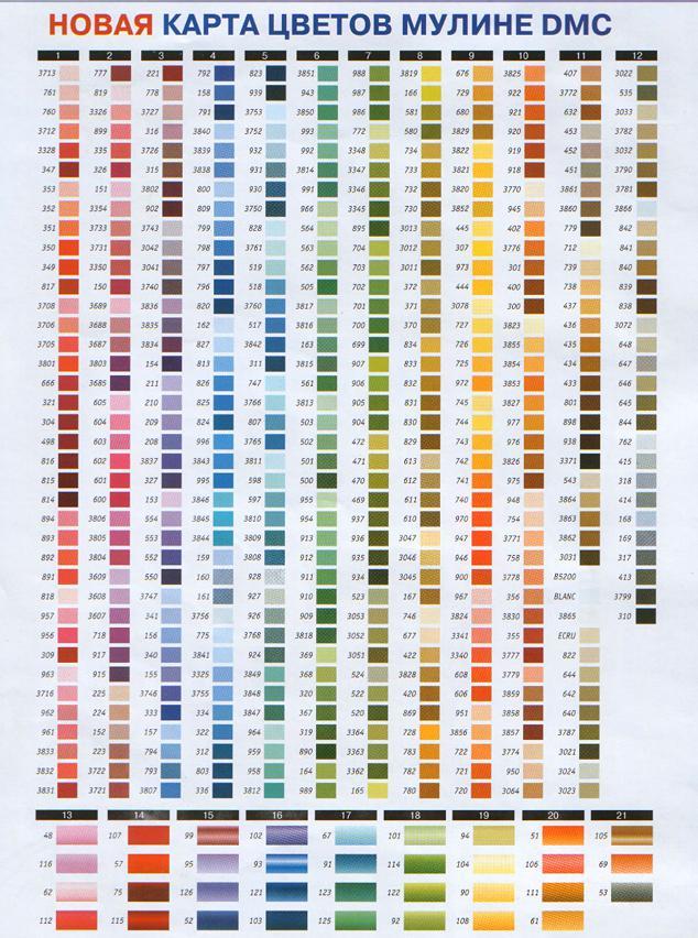 нитки гамма название цвета оригинальное.